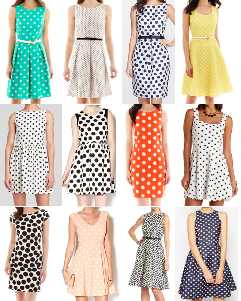 Polka dot dresses under $100