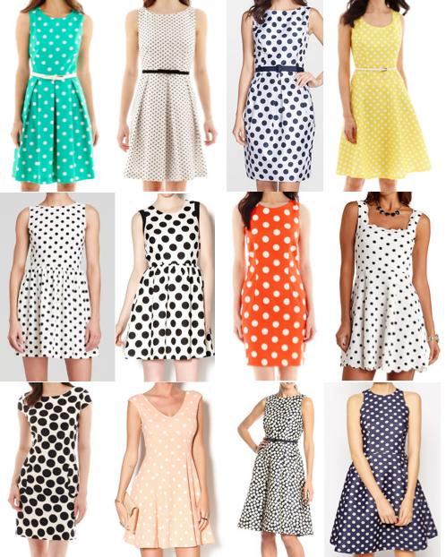 Polka dot dresses under $100