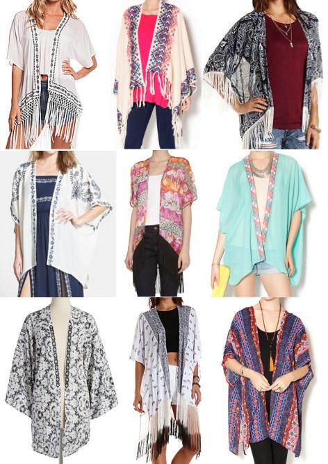 Kimono cardigans under $100