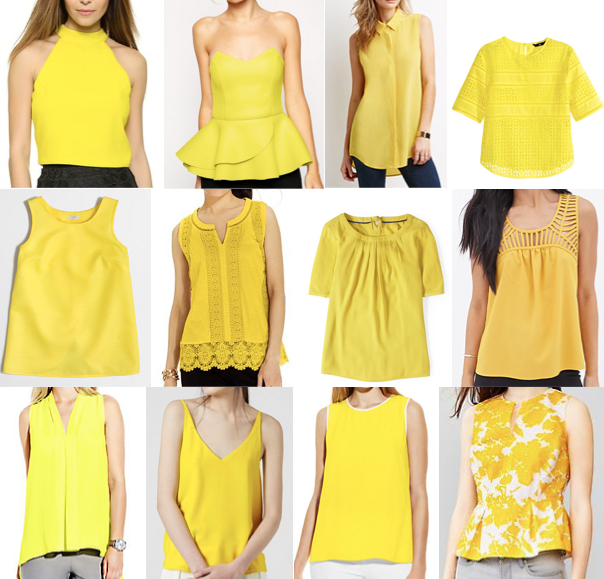 Yellow tops under $100