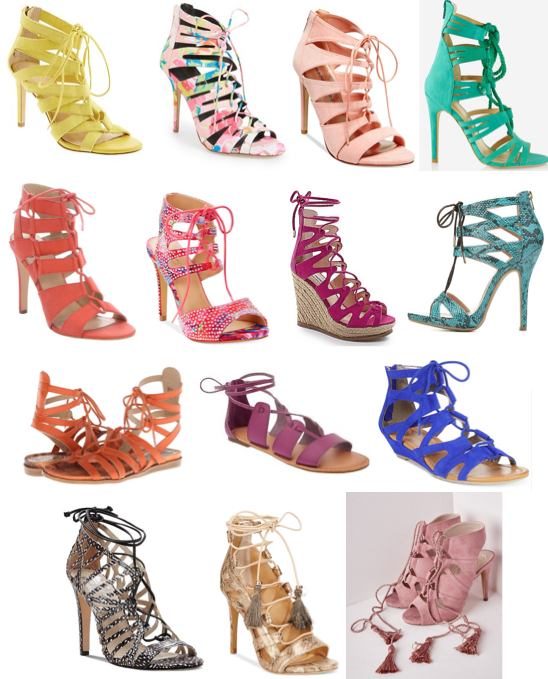 Lace up sandals on a budget