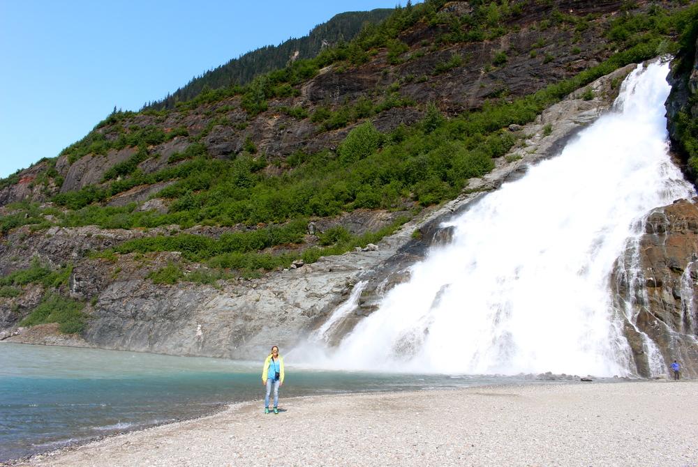 Nugget Falls in Juneau, Alaska