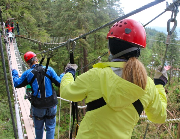 Zip lining in Ketchikan, Alaska