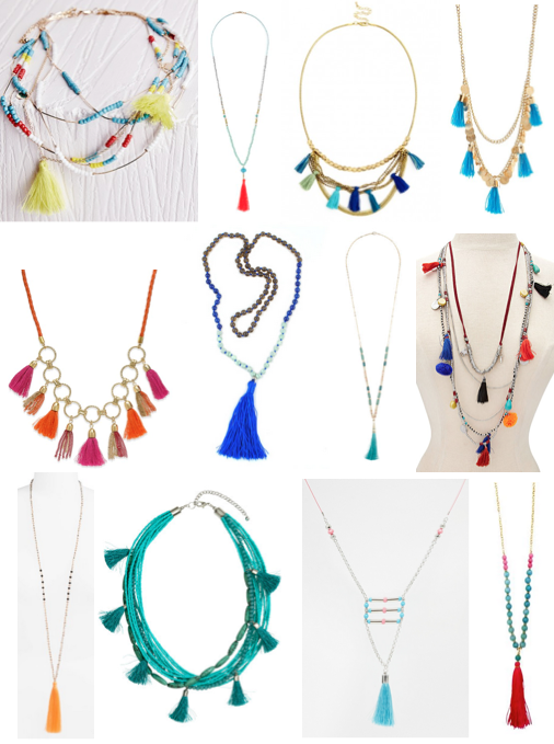 Tassel necklaces under $100