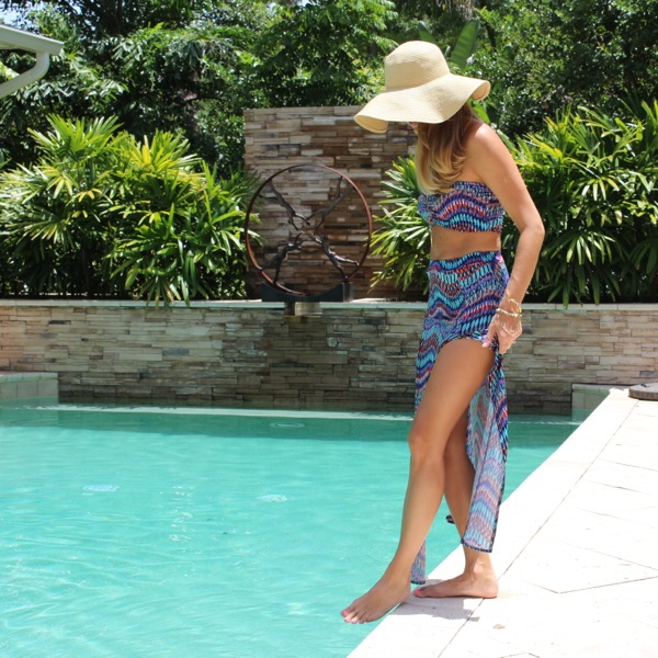 BooHoo two piece swim cover up