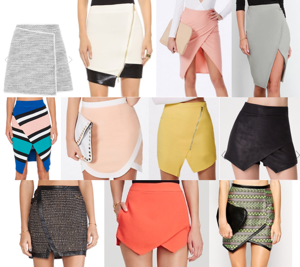 Asymmetrical skirts under $90