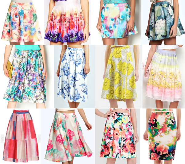 Printed skirts under $100