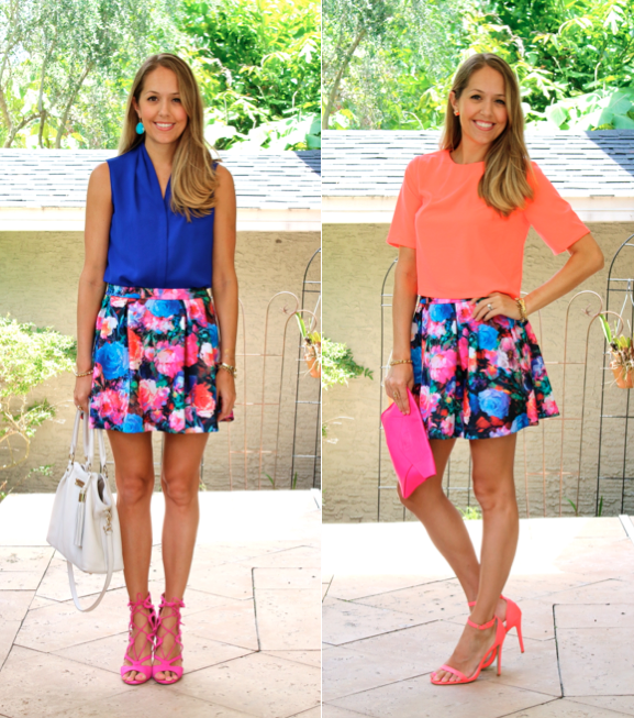 Floral skirt, two ways