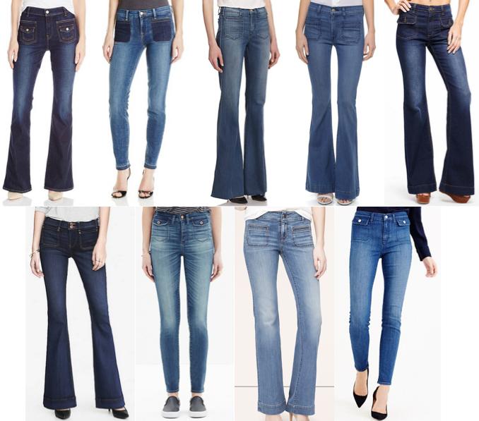Front pocket jeans