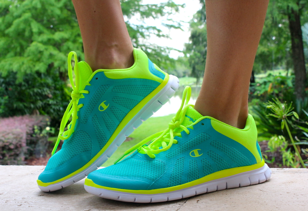 Neon sneakers from Payless, $25