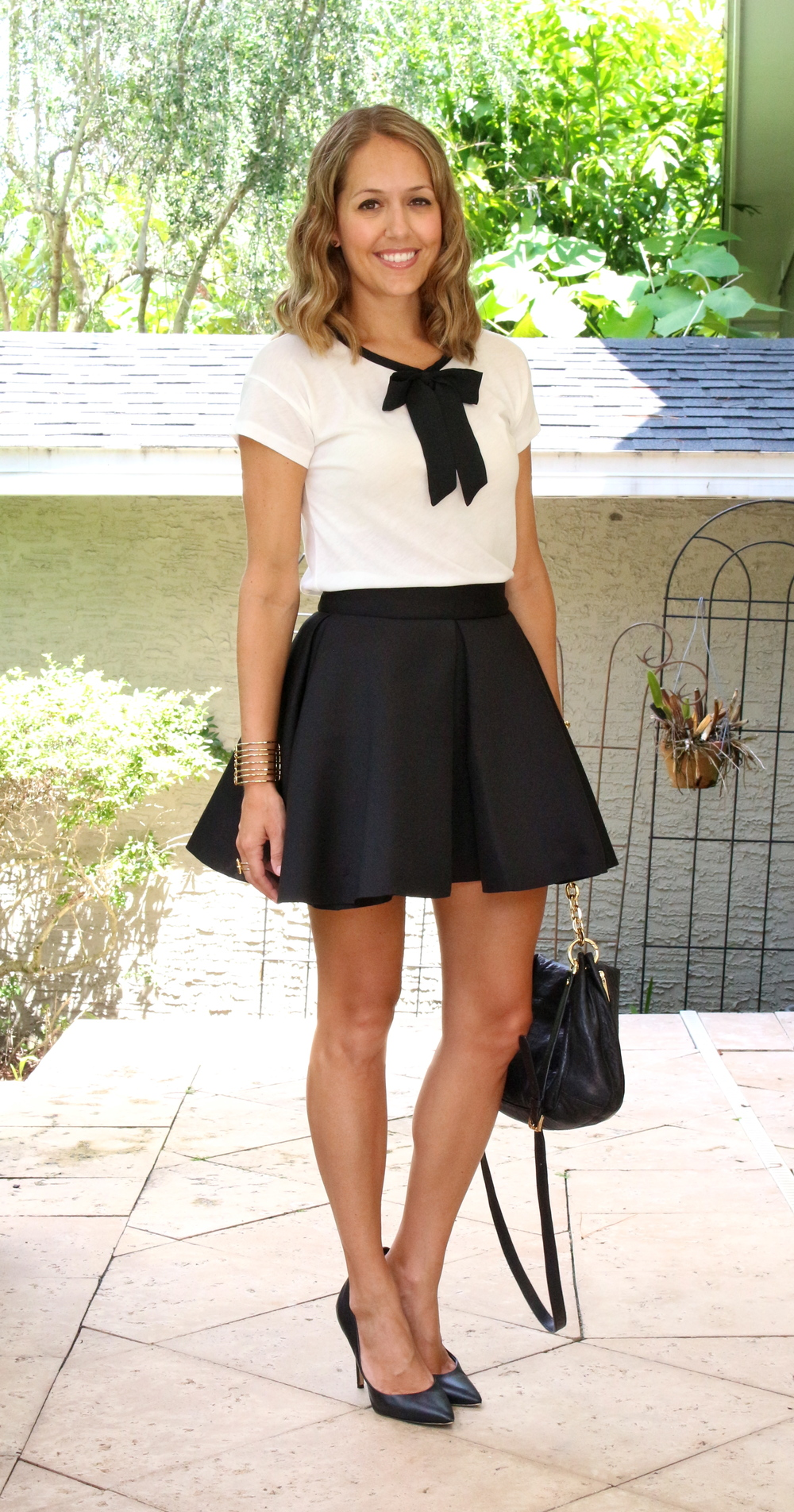 $20 bow top with black skirt