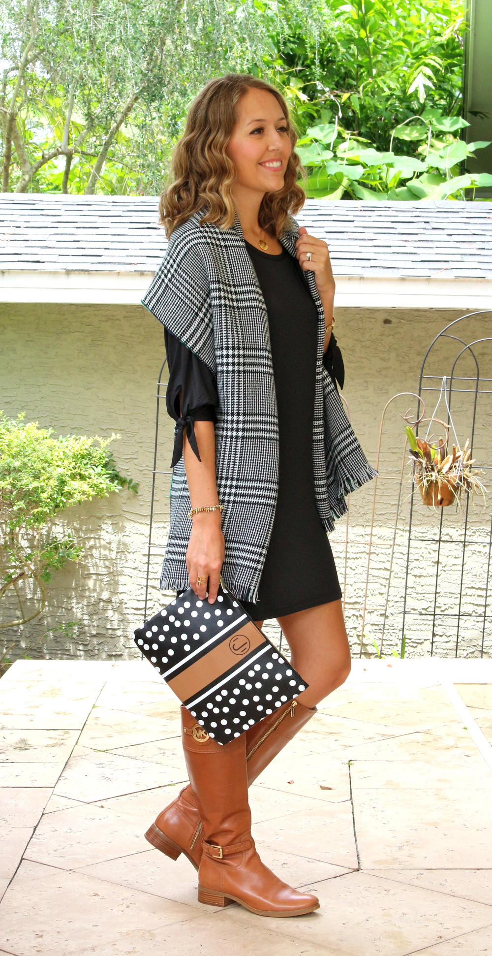 Mud Pie dress, scarf and clutch