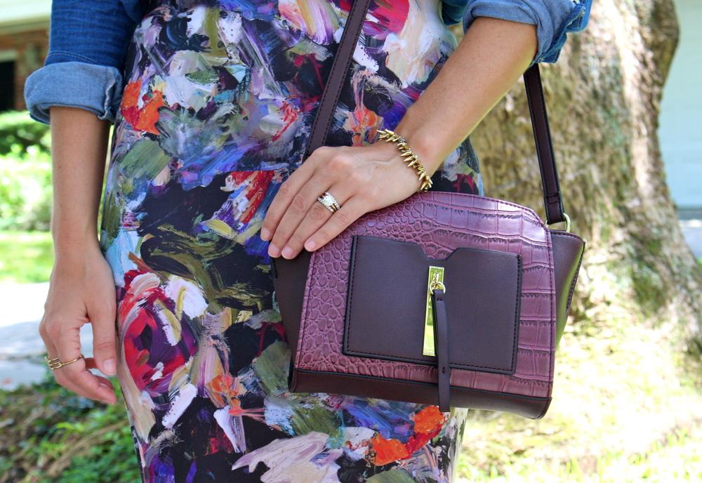 Danielle Nicole burgundy python purse