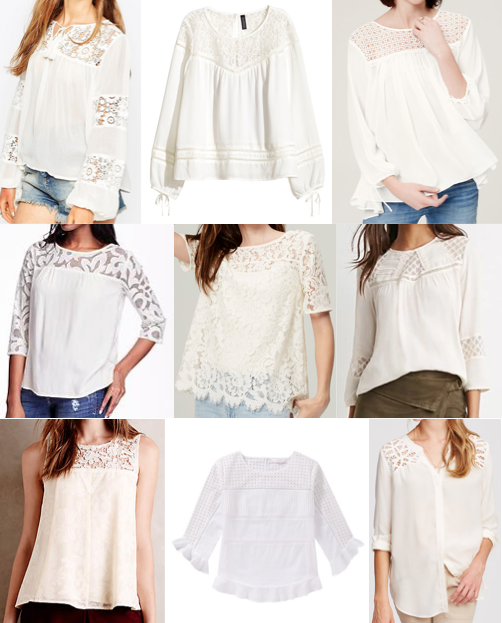 Lace blouses under $100