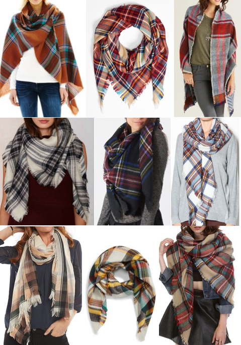 Plaid scarf on a budget