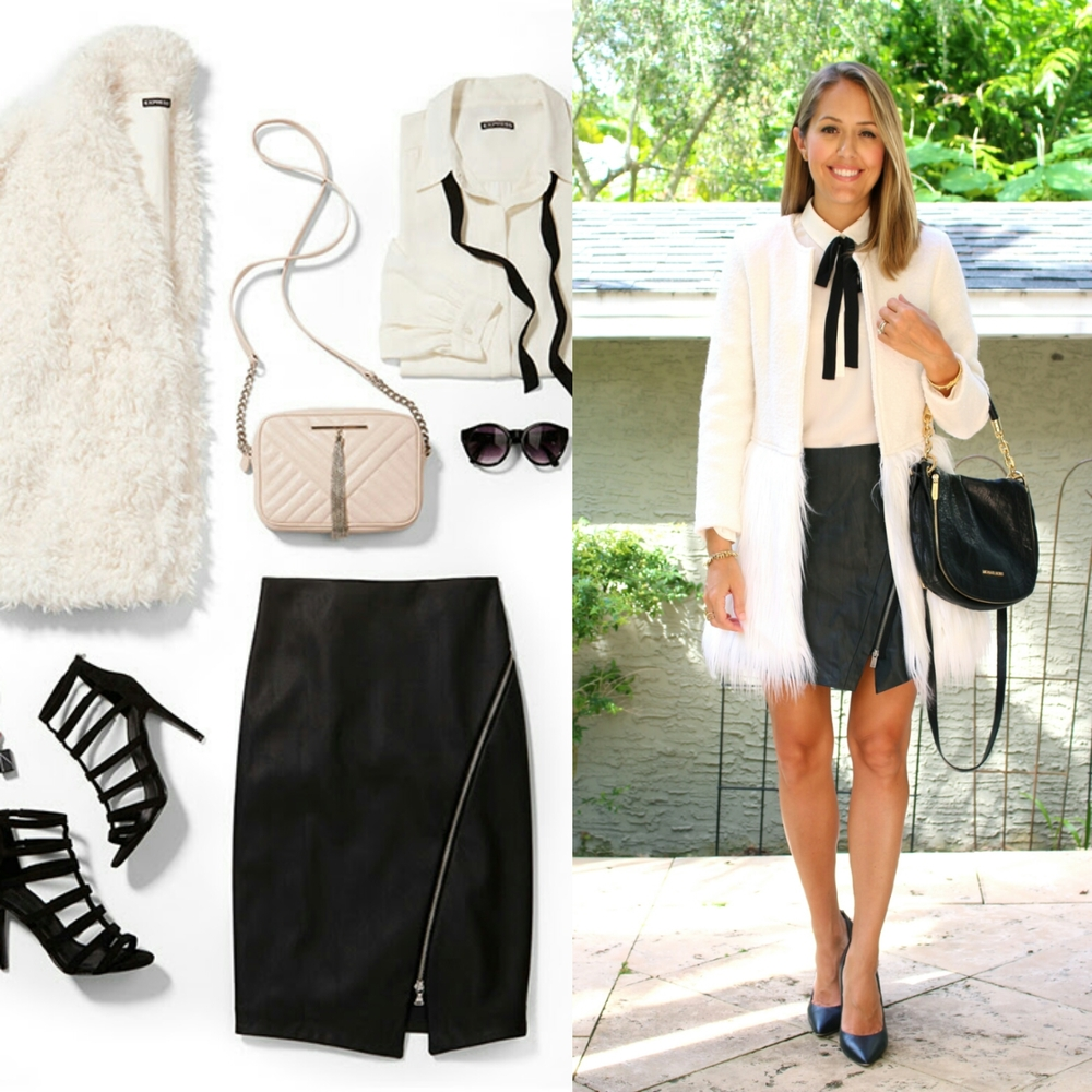 Inspiration: Express Coat  /  Skirt  /  Top  /  Purse  /  Shoes