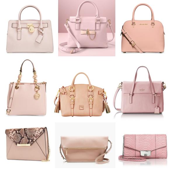 Blush pink handbags under $300