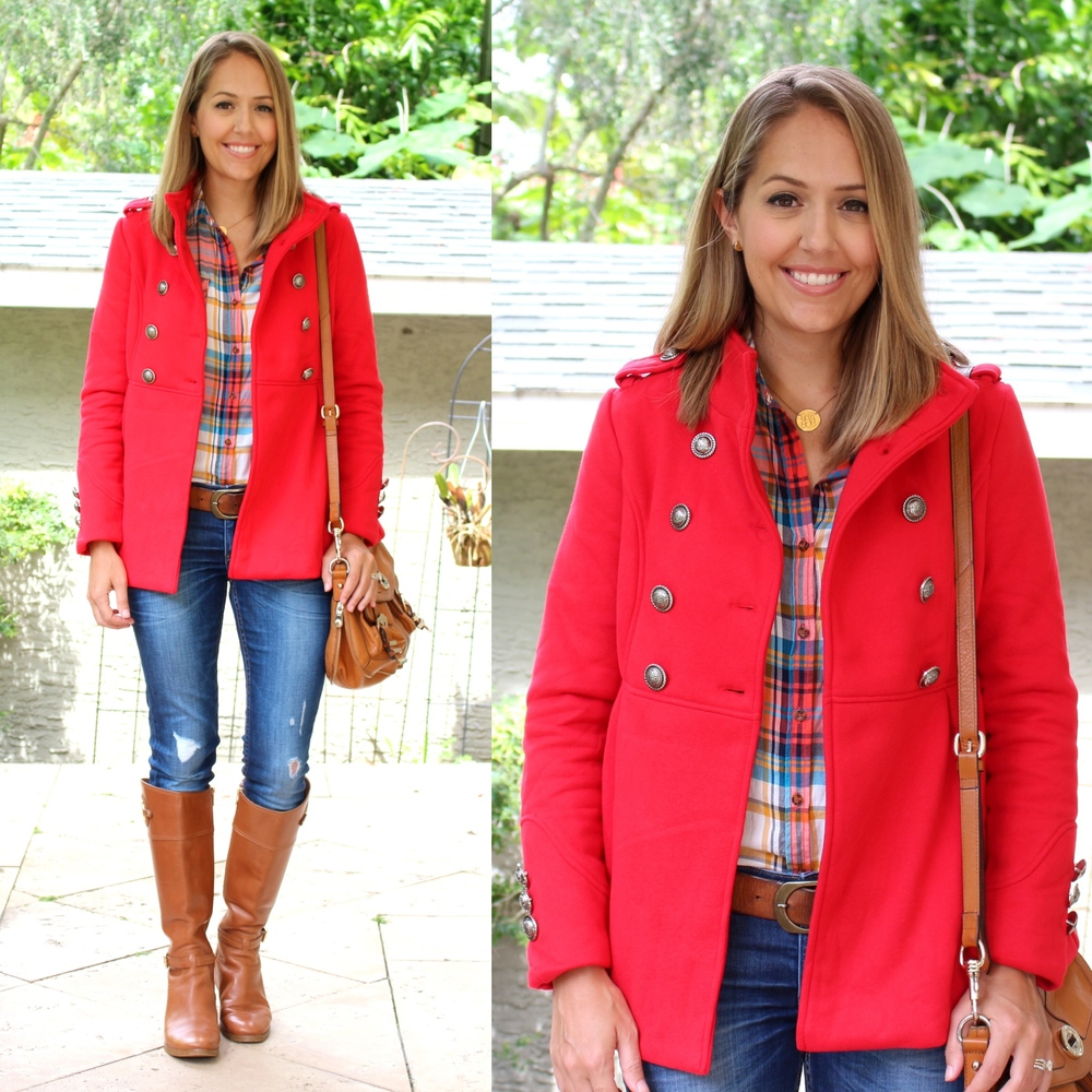 Jane.com $500 giveaway - red coat