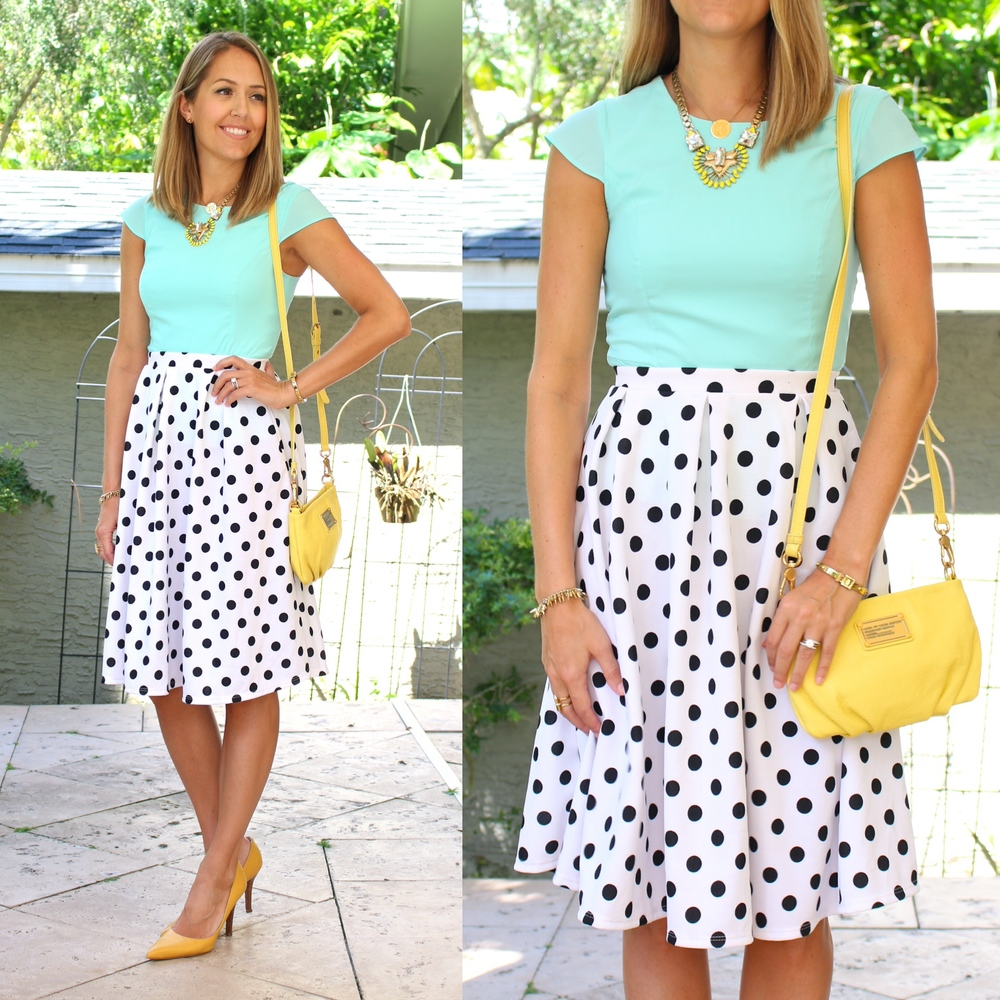 Jane.com $500 giveaway - polka dot skirt