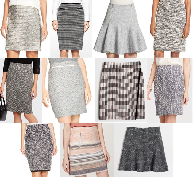 Tweed skirts under $100