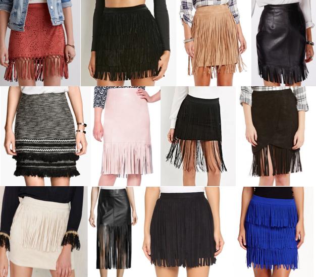 Fringe skirts under $100