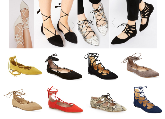 Lace up flats under $100