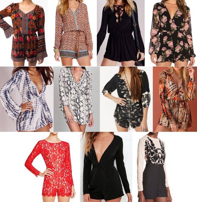 Long sleeve rompers under $100