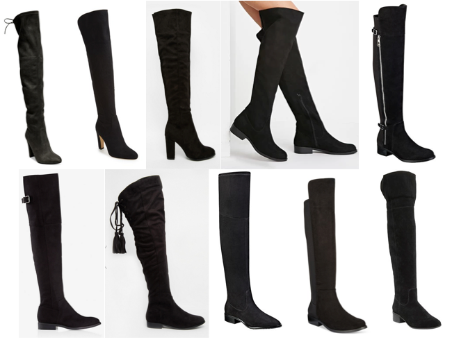 Over the knee boots under $170