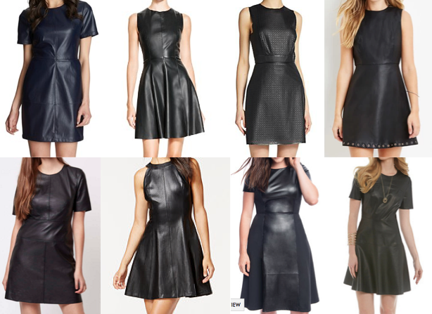 Leather dresses under $100