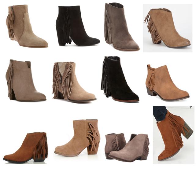 Fringe boots under $100