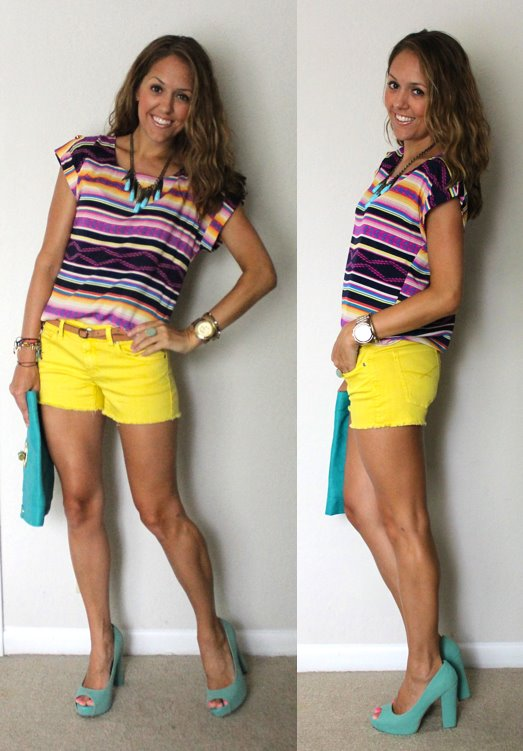 Printed Striped Top