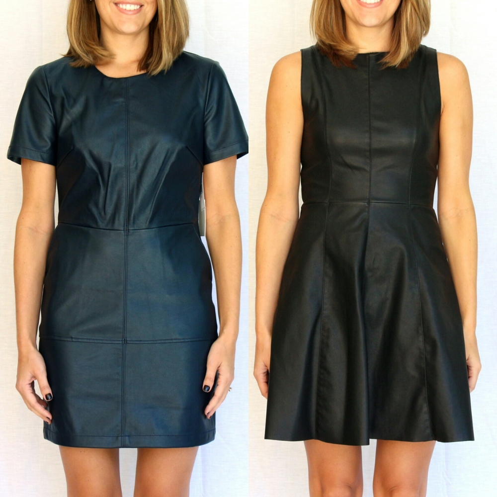 Leather sheath dresses under $80