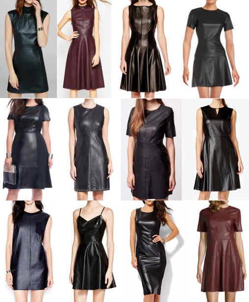 Leather dresses under $120