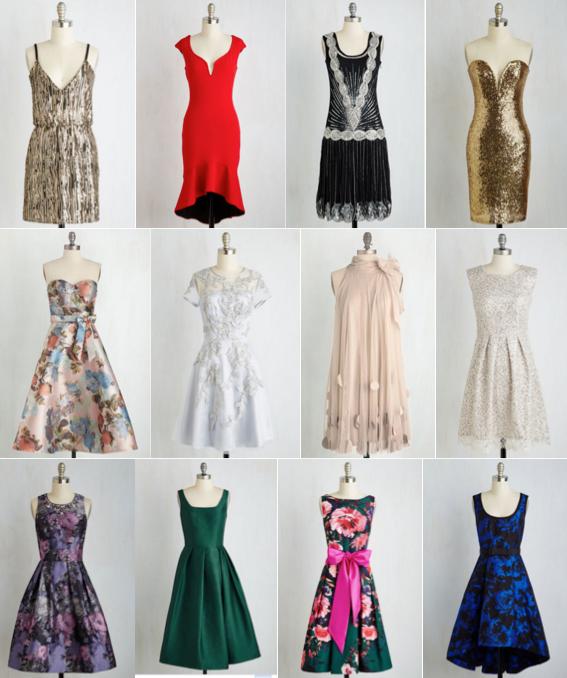 ModCloth party dresses