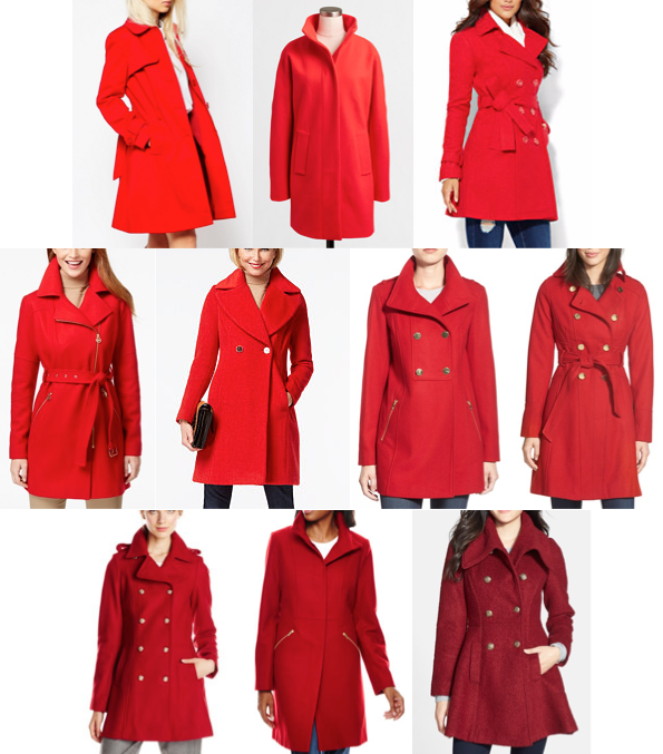 Red coats under $200