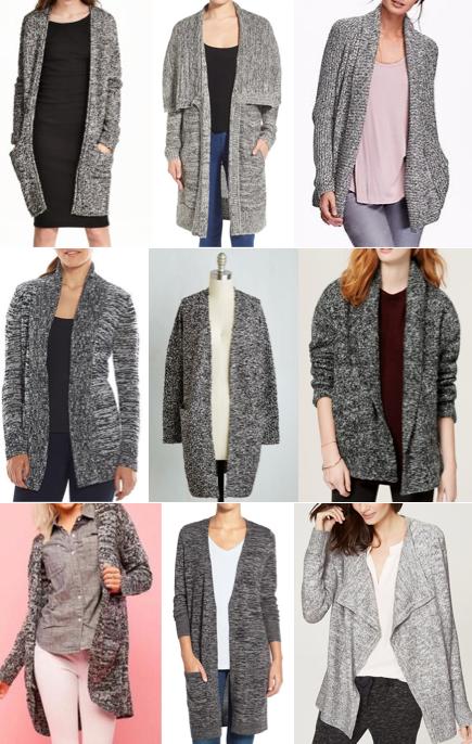 Gray long cardigans under $100