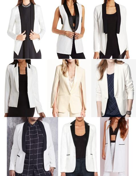 Tuxedo blazers on a budget