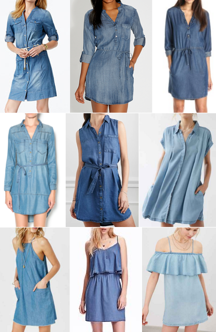 Chambray dresses under $100