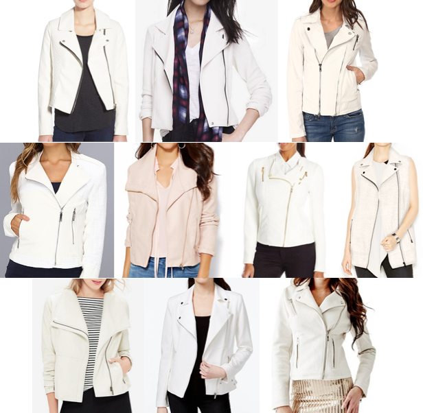 White moto jackets under $150