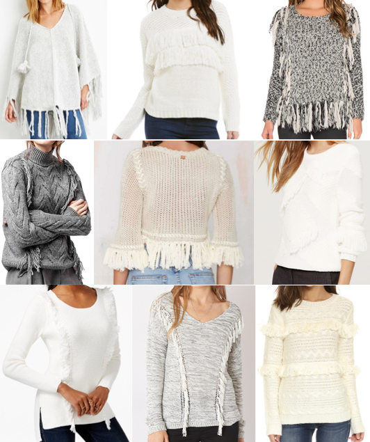Fringe sweater under $100
