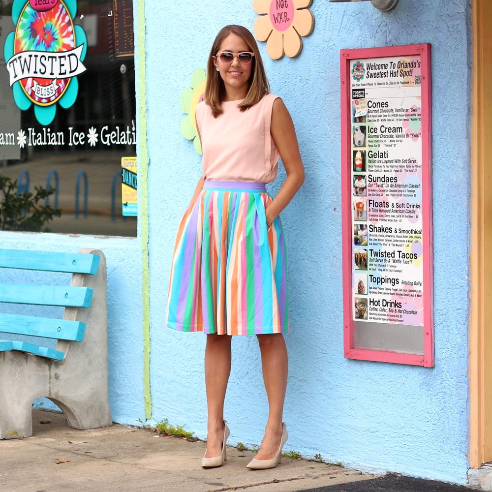 Color Me ModCloth - rainbow skirt