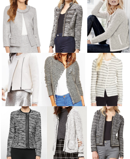 Boucle jackets under $120