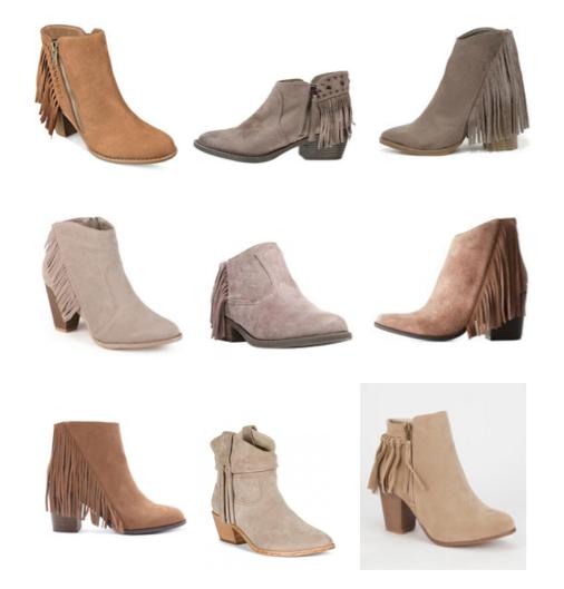 Fringe boots under $150