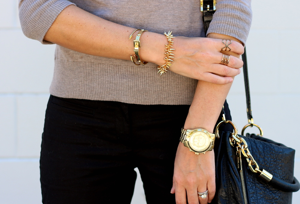 Michael Kors watch, Stella & Dot jewelry