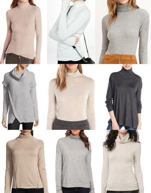 Lightweight turtlenecks under $100
