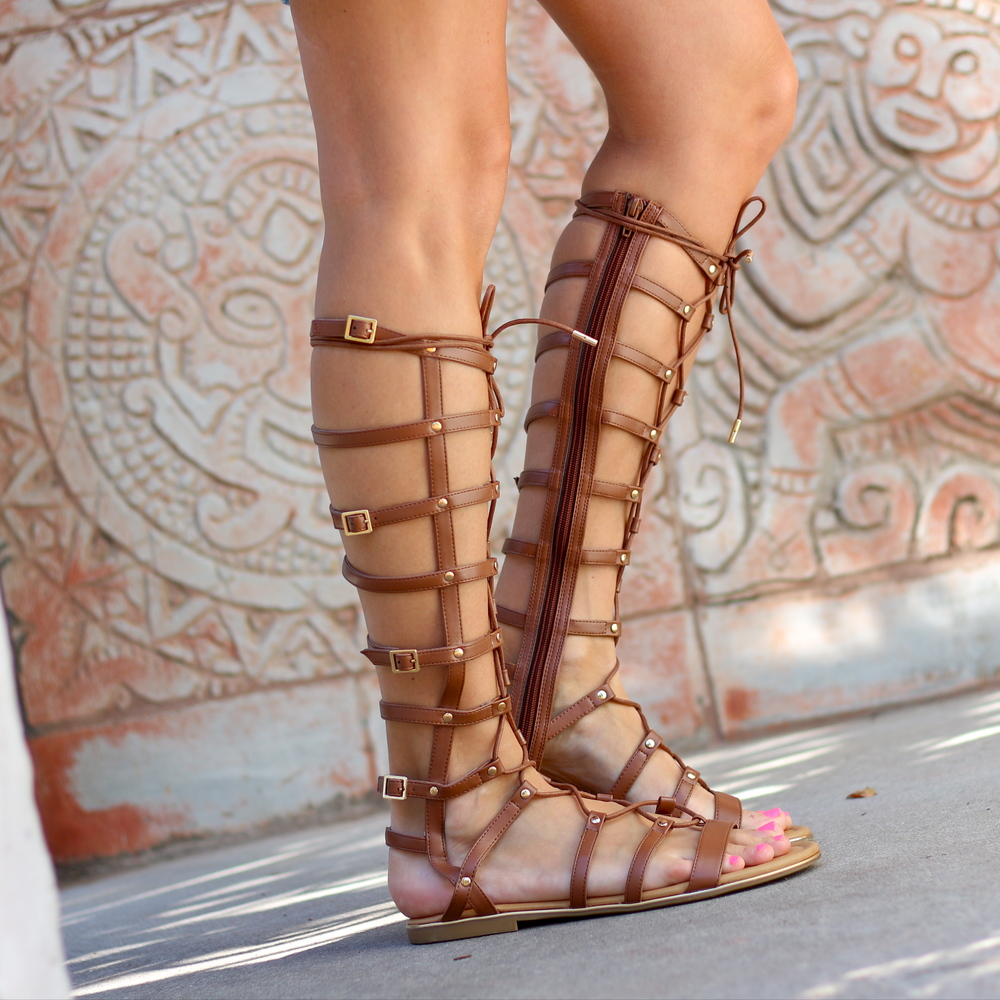 DSW lace up gladiators