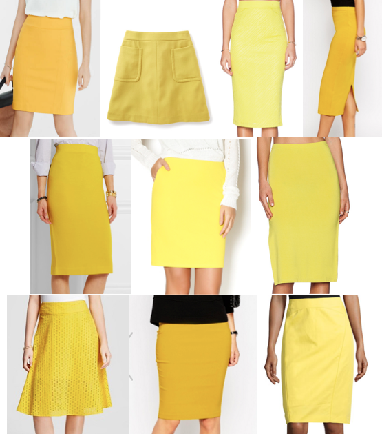 Yellow skirts under $100