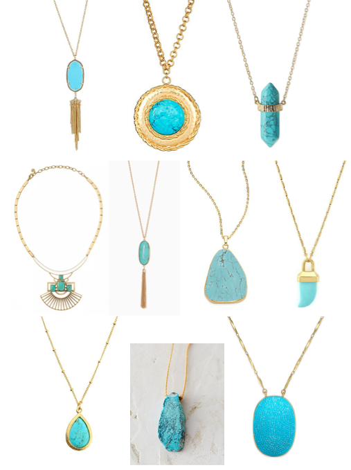 Turquoise pendants under $100