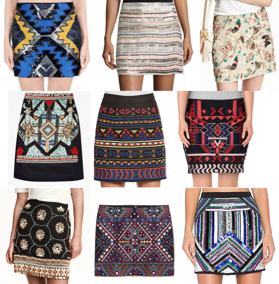 Beaded skirts on a budget