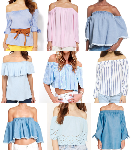 Off the shoulder tops under $90